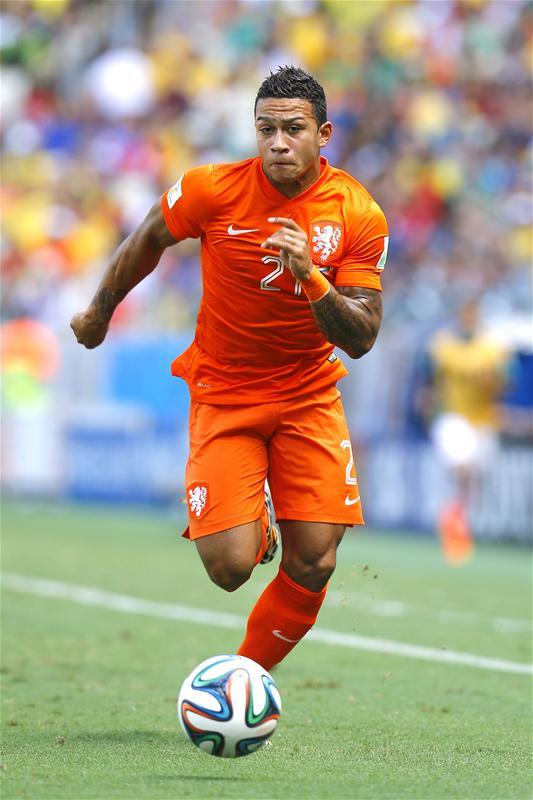 Memphis Depay refused to rule out a move to Everton when he was asked about his future after scoring for the Netherlands on Sunday.