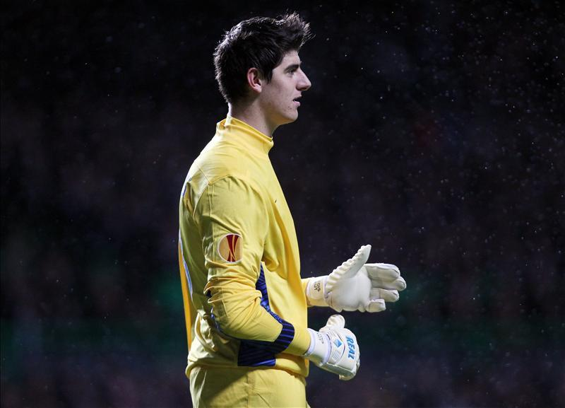 2a998f18c56 Goalkeeper Thibaut Courtois says he is loving life at Atletico Madrid but  has hinted that his long-term future could be with Chelsea.