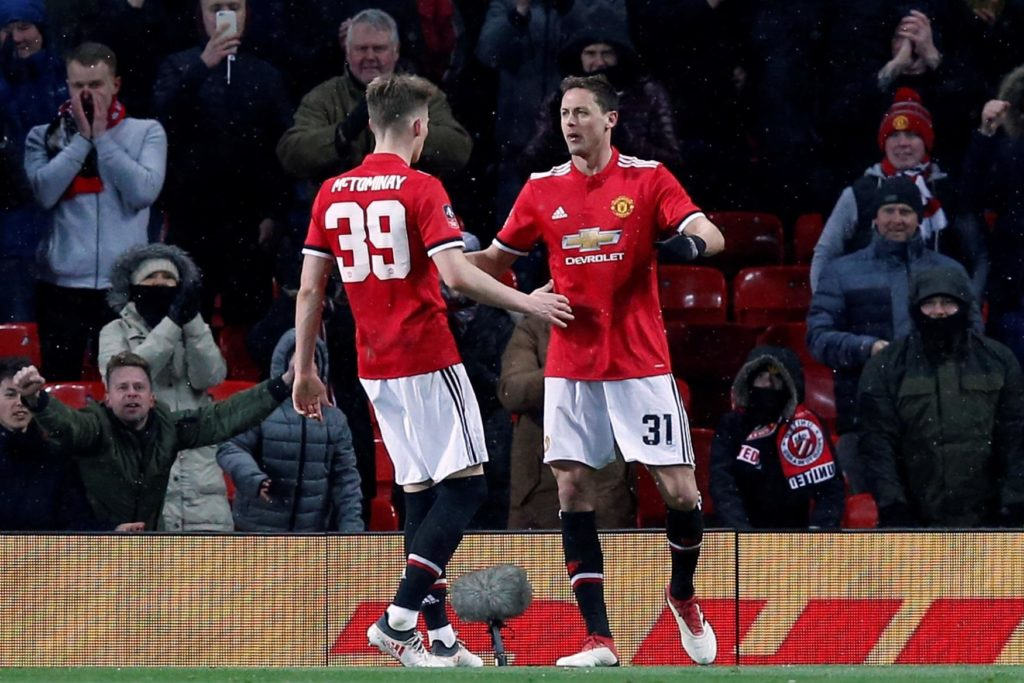 32e892288e7 Manchester United booked their place in the semi-finals of the FA Cup  courtesy of an unconvincing 2-0 win over Brighton.
