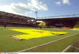 Watford chairman Scott Duxbury says the club hope to have a plan to expand Vicarage Road 'sooner rather than later'.