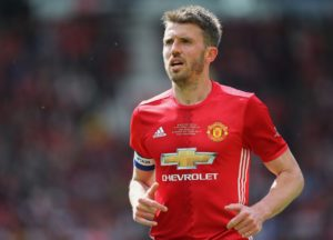 Michael Carrick plays in final game