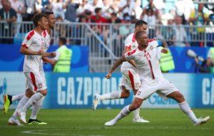 Costa Rica against Serbia