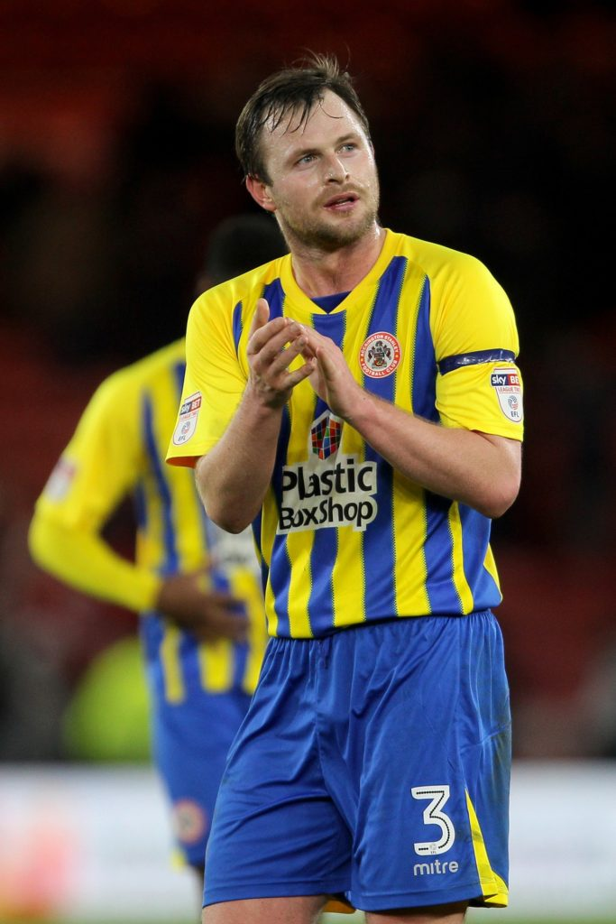 Defender Mark Hughes has agreed an improved one-year contract with Sky Bet League One new boys Accrington.