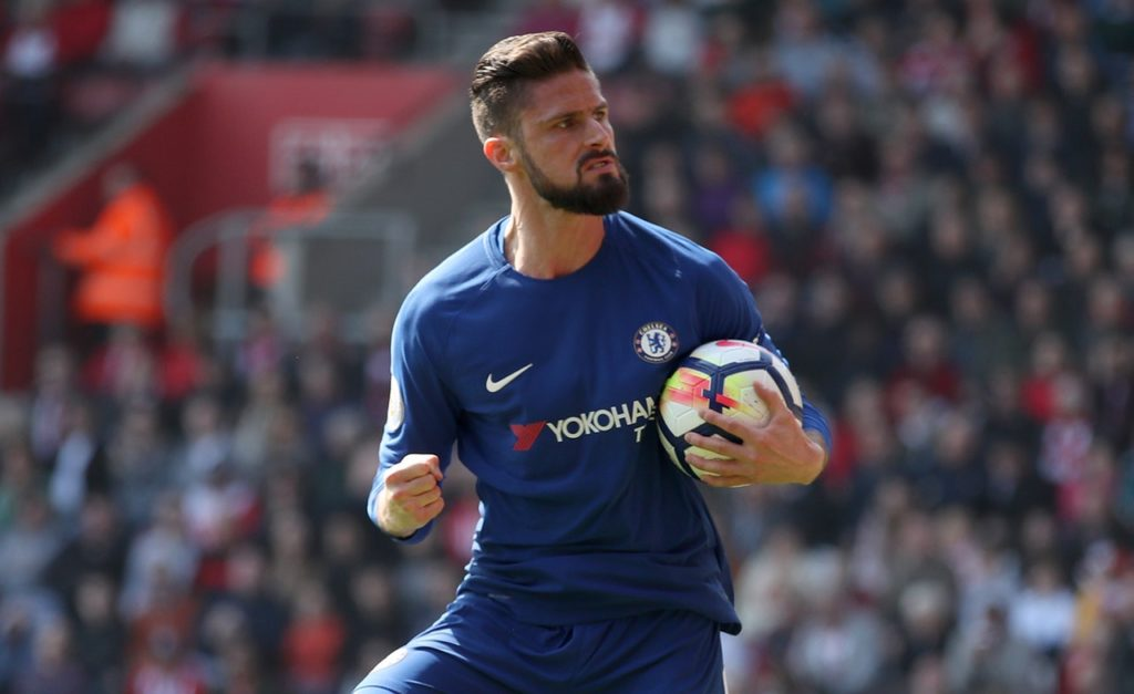 Atletico Madrid have been linked with Chelsea striker Olivier Giroud as an alternative to Nikola Kalinic.