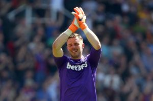 Stoke manager Gary Rowett has dismissed speculation linking England goalkeeper Jack Butland with a summer move.