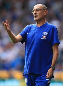 Chelsea v Arsenal - boss Maurizio Sarri declared himself 'very happy' to start Premier League life with a comprehensive victory at Huddersfield.