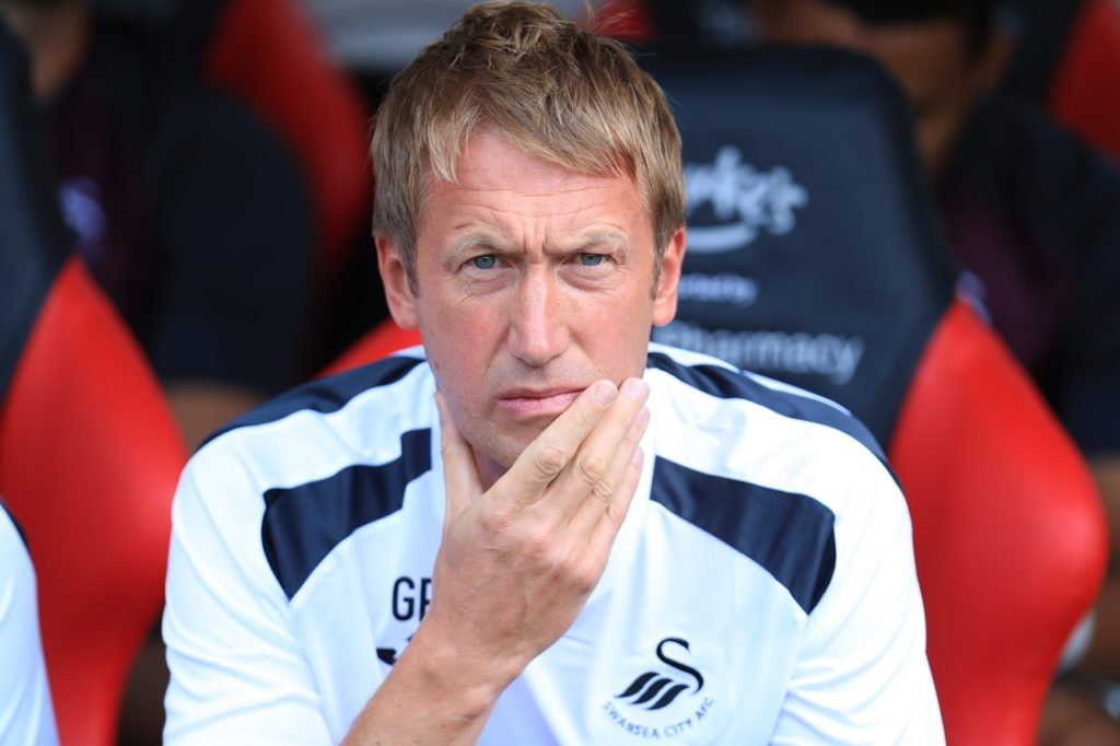 Graham Potter says Swansea's spirit in the 0-0 draw at Birmingham made up for their poor showing in the game.