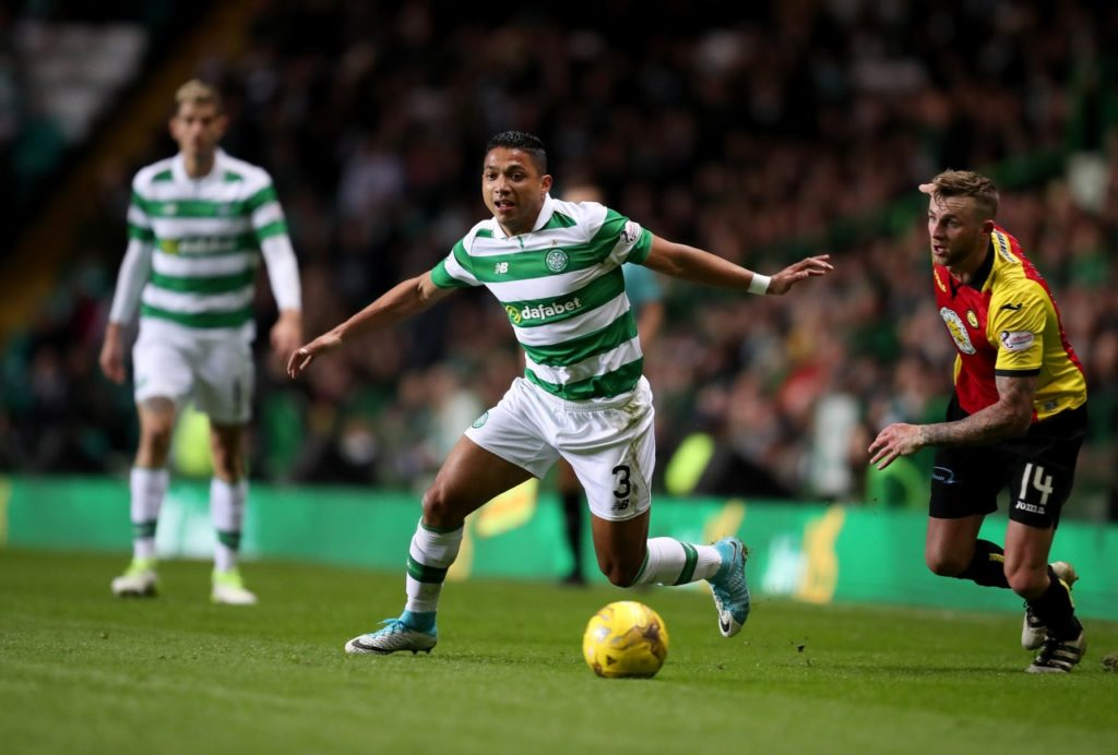 Emilio Izaguirre was delighted to be 'back home' after rejoining Celtic on a one-year deal.