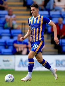 Cheltenham have signed Sam Jones on loan from Shrewsbury.