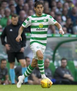 Cristian Gamboa was delighted to hear the Celtic fans chant his name in Saturday's 3-1 Betfred Cup last-16 win at Partick Thistle.
