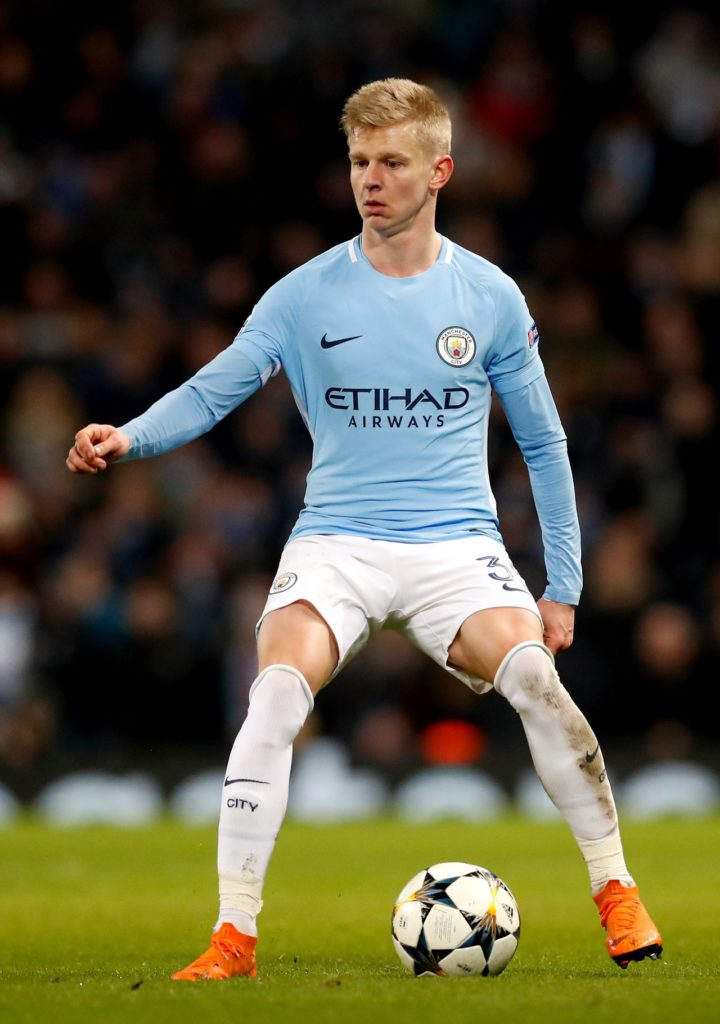 Celtic have shown interest in Manchester City's Oleksandr Zinchenko, according to a report in Spain, which may be his next destination.