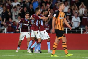 Ahmed Elmohamady struck against his former club as Aston Villa responded to a summer of uncertainty with a 3-1 victory over Hull.
