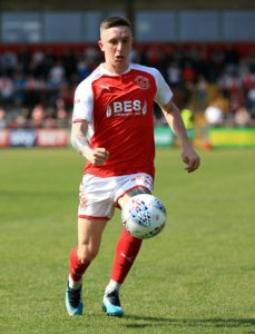 Substitute Ashley Hunter sealed a 4-3 penalty shoot-out win for Fleetwood against Crewe after Jason Holt cancelled out Ryan Wintle's opener in normal time.