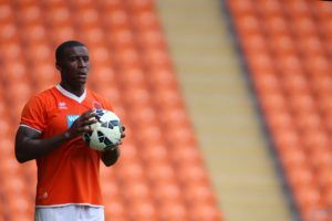 Free agent Donervon Daniels expressed his excitement after earning a contract at former club Blackpool.