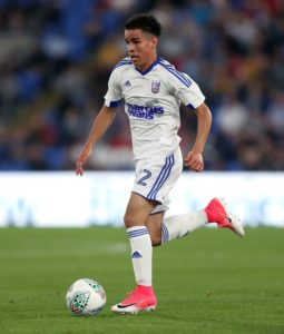 St Johnstone have signed 18-year-old midfielder Tristan Nydam on loan from Ipswich until January.