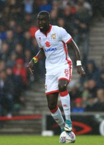 Ousseynou Cisse could start for MK Dons in their Carabao Cup clash with Charlton.