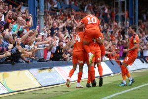 Luton defender Matty Pearson scored his first goal for the club to earn a 1-1 draw against Sunderland at Kenilworth Road.