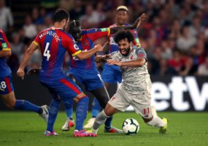 Crystal Palace manager Roy Hodgson insists that Liverpool should not have been awarded a penalty in their 2-0 win on Monday night.
