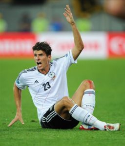 Germany forward Mario Gomez has announced his retirement from international football with immediate effect.