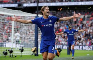 A late strike from Marcos Alonso gave Chelsea their second win of the campaign at the hands of Arsenal at Stamford Bridge.