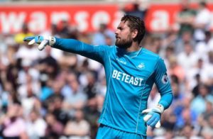 Swansea goalkeeper Kristoffer Nordfeldt will miss between two and four weeks of action due to a groin injury.