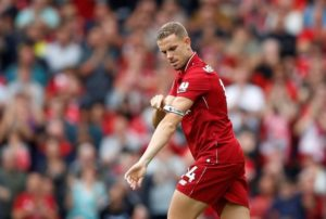 Liverpool captain Jordan Henderson could get the nod in Monday's Premier League trip to Crystal Palace.
