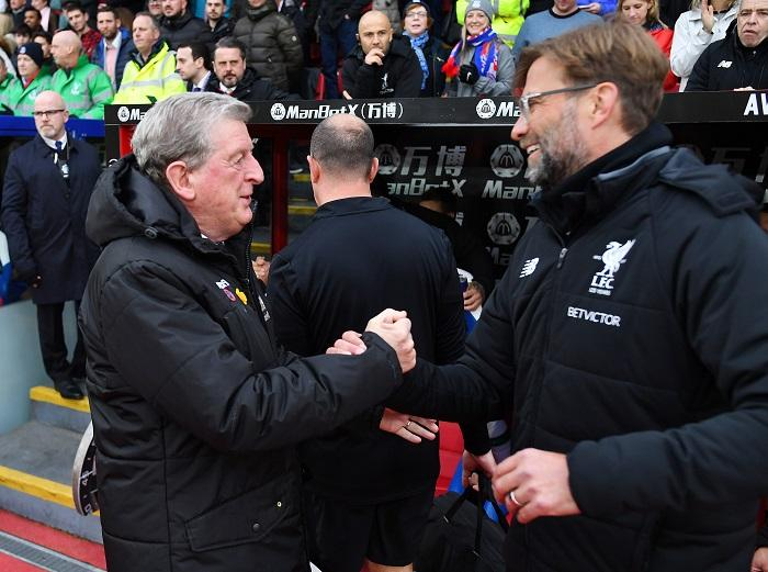 Jurgen Klopp has hailed his Liverpool players for coping with Crystal Palace's physical approach as they beat the Eagles 2-0.