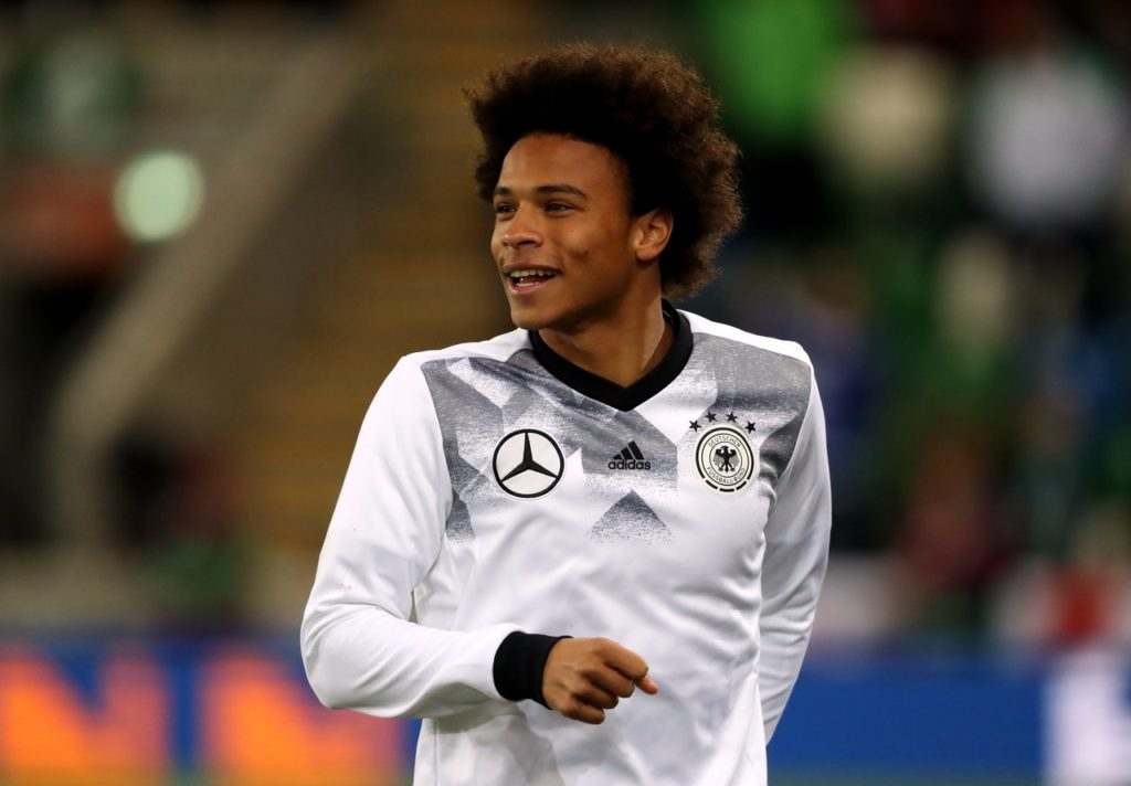 7c31fb37c701a3 Leroy Sane left Germany s camp ahead of Sunday s friendly with Peru to be  at the birth