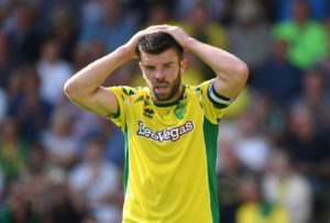 Norwich captain Grant Hanley will miss the match against Middlesbrough as the defender faces six weeks out because of a thigh problem.
