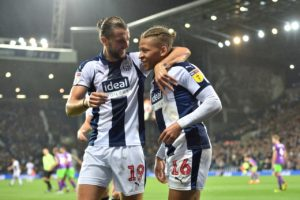 Jay Rodriguez struck twice as West Brom clinched a thrilling 4-2 win over in-form Bristol City.