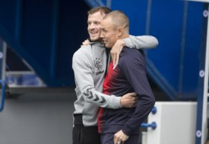 Rangers midfielder Andy Halliday admits the broken nose he copped from former team-mate Kenny Miller was not the reunion gift he was looking for.