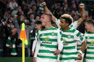 Leigh Griffiths climbed off the bench to score a dramatic late winner for Celtic in their Europa League Group B opener against old foes Rosenborg at Parkhead.