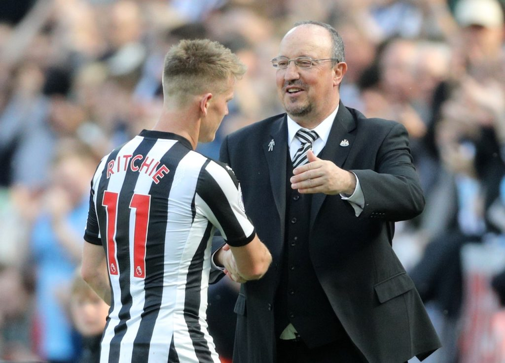 Rafael Benitez has confirmed that Jonjo Shelvey and Matt Ritchie will be in the Newcastle squad for Saturday's visit of Arsenal.