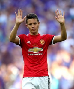 Ander Herrera is available for Manchester United's Carabao Cup third-round clash against Derby following his recovery from an ankle complaint.