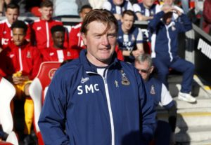 Scunthorpe boss Stuart McCall will be without Cameron Borthwick-Jackson as he looks to secure a first home win of the season in Saturday's League One clash with