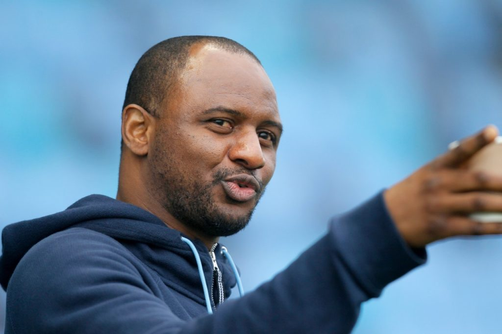 Patrick Vieira's side were reduced to 10 men in last season's fixture