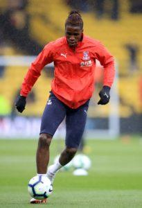 Crystal Palace manager Roy Hodgson has confirmed Wilfried Zaha has returned to full training.