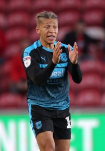 West Brom manager Darren Moore hailed striker Dwight Gayle after his matchwinning brace in the 2-1 Sky Bet Championship victory against Stoke.