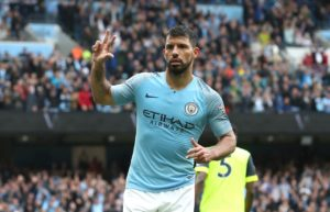 Sergio Aguero looks set to face Lyon in the Champions League but Manchester City will be without injured left-back Benjamin Mendy.