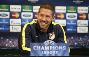 Atletico Madrid boss Diego Simeone feels his side is now on a par with Real Madrid after the departure of Cristiano Ronaldo.