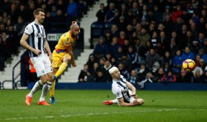 Andros Townsend scored twice with Patrick van Aanholt also on target as Crystal Palace beat West Brom 3-0 to reach the EFL Cup fourth round.