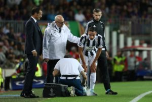 Serie A champions Juventus have confirmed Mattia De Sciglio suffered a thigh injury during the warm-up for the Sassuolo clash.