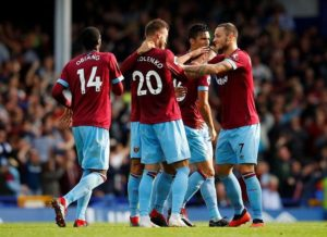 West Ham are up and running in the Premier League after securing a deserved 3-1 victory over Everton at Goodison Park.