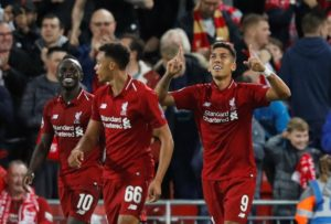 Roberto Firmino smashed home a stoppage time winner as Liverpool recorded a dramatic Champions League win over Paris St Germain.