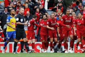 Mohamed Salah scored as Liverpool continued this season's unbeaten streak with a 3-0 thumping of Southampton at Anfield.