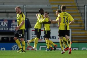 League One Burton Albion came from behind to stun Premier League Burnley 2-1 in the third round of the Carabao Cup.
