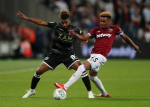 Grady Diangana admits he did not expect his West Ham debut to go so well after he scored two in Wednesday's 8-0 victory over Macclesfield.