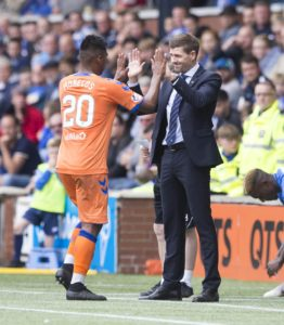 Steven Gerrard declared Rangers hitman Alfredo Morelos punch-perfect after watching his knock-out performance against Rapid Vienna.