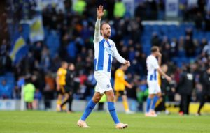 Chris Hughton praised Glenn Murray after he overcame a serious head injury to claim his 100th Brighton goal in the 1-0 win over Wolves.