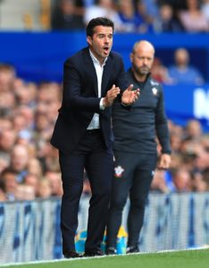 Everton boss Marco Silva says he is not currently focused on any January transfers and will remain loyal to his squad.